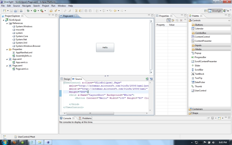 XAML files in Eclipse.